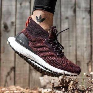 Adidas ultraboost ATR dark burgundy sneakers